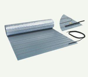 laminaatverwarming, dunne matten met aarding