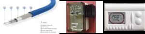 7 mm verwarmingskabel met moduset